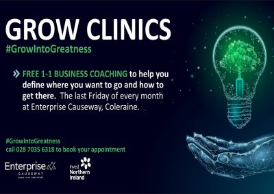 Grow Clinics: Free One-to-One Business Mentoring